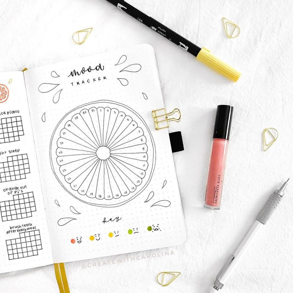 Citrus Theme July mood trackers