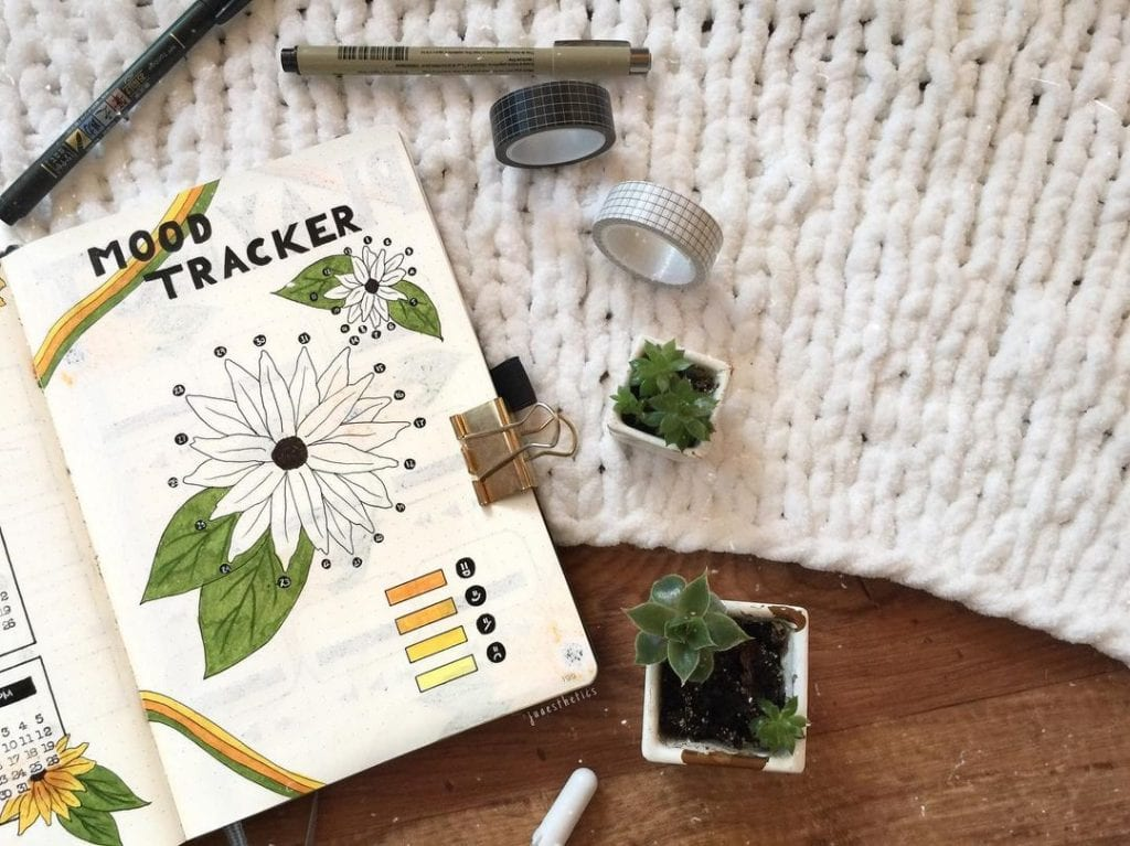 Floral July mood trackers