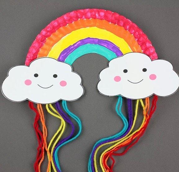 Rainbow Paper Plate Crafts