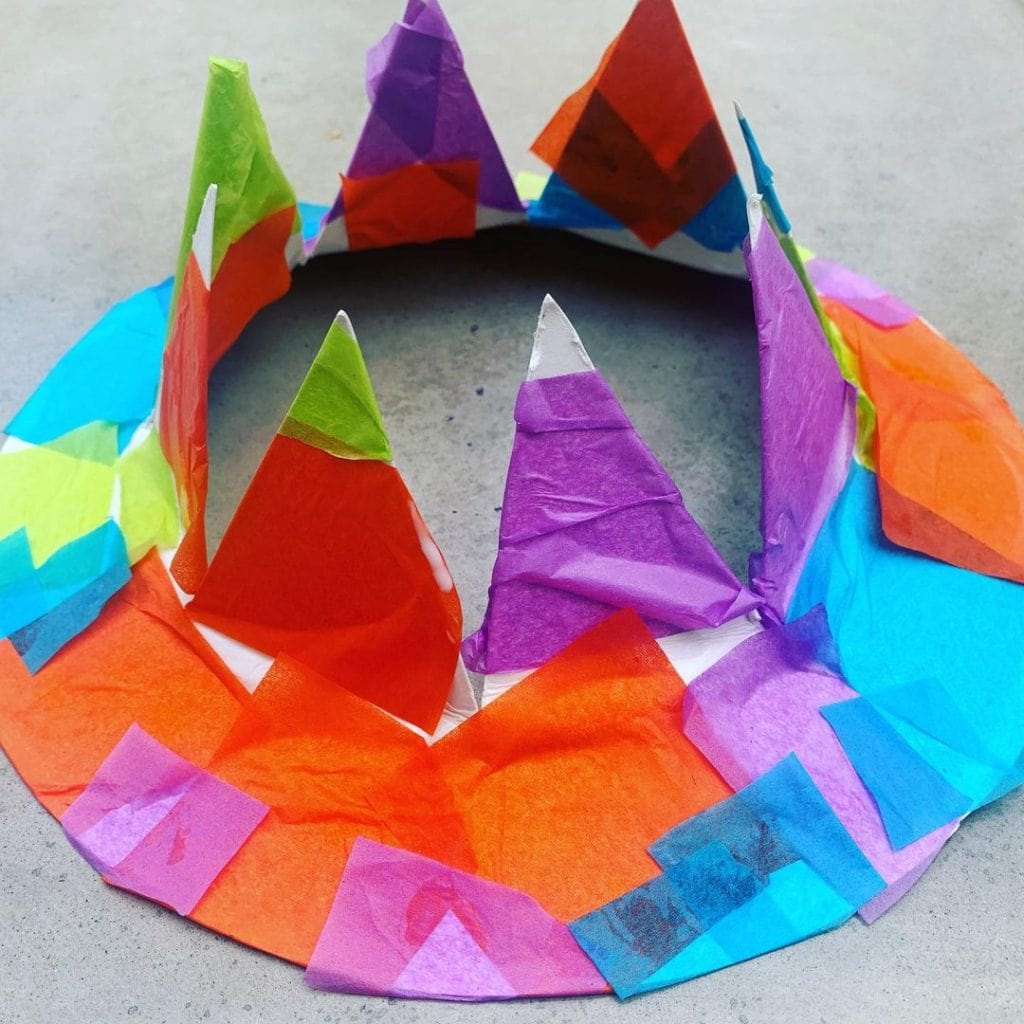 Crown Paper Plate Crafts