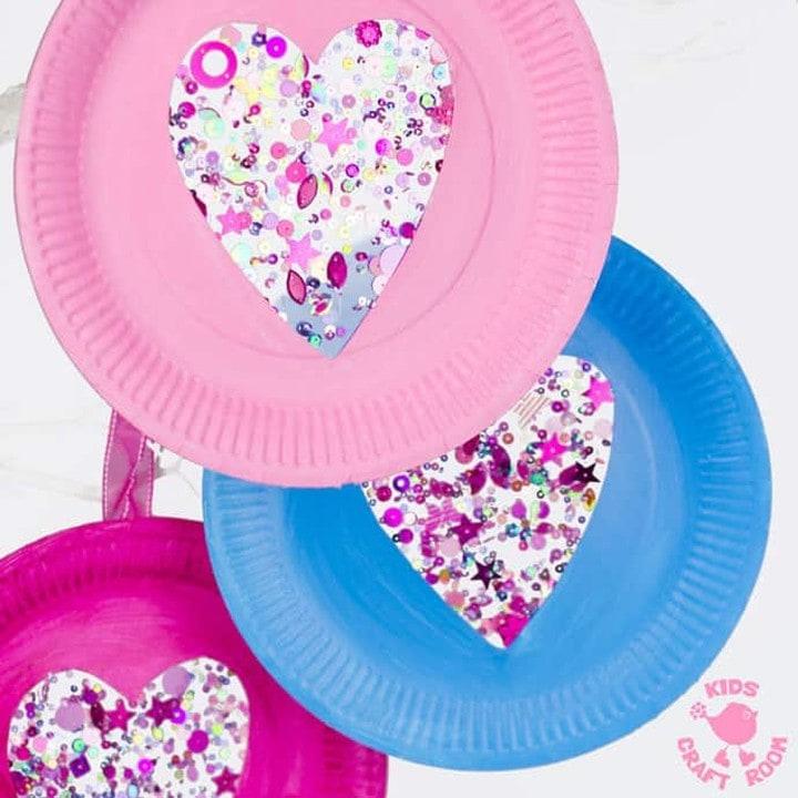 Heart Suncatcher Paper Plate Crafts