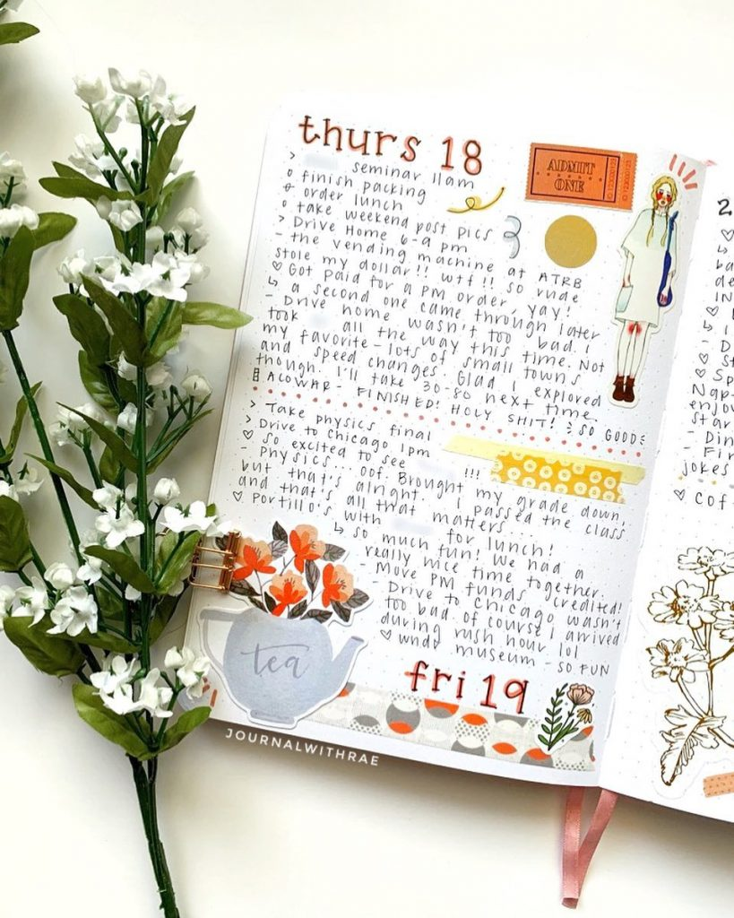Coffee Theme Bullet Journal Daily Spread