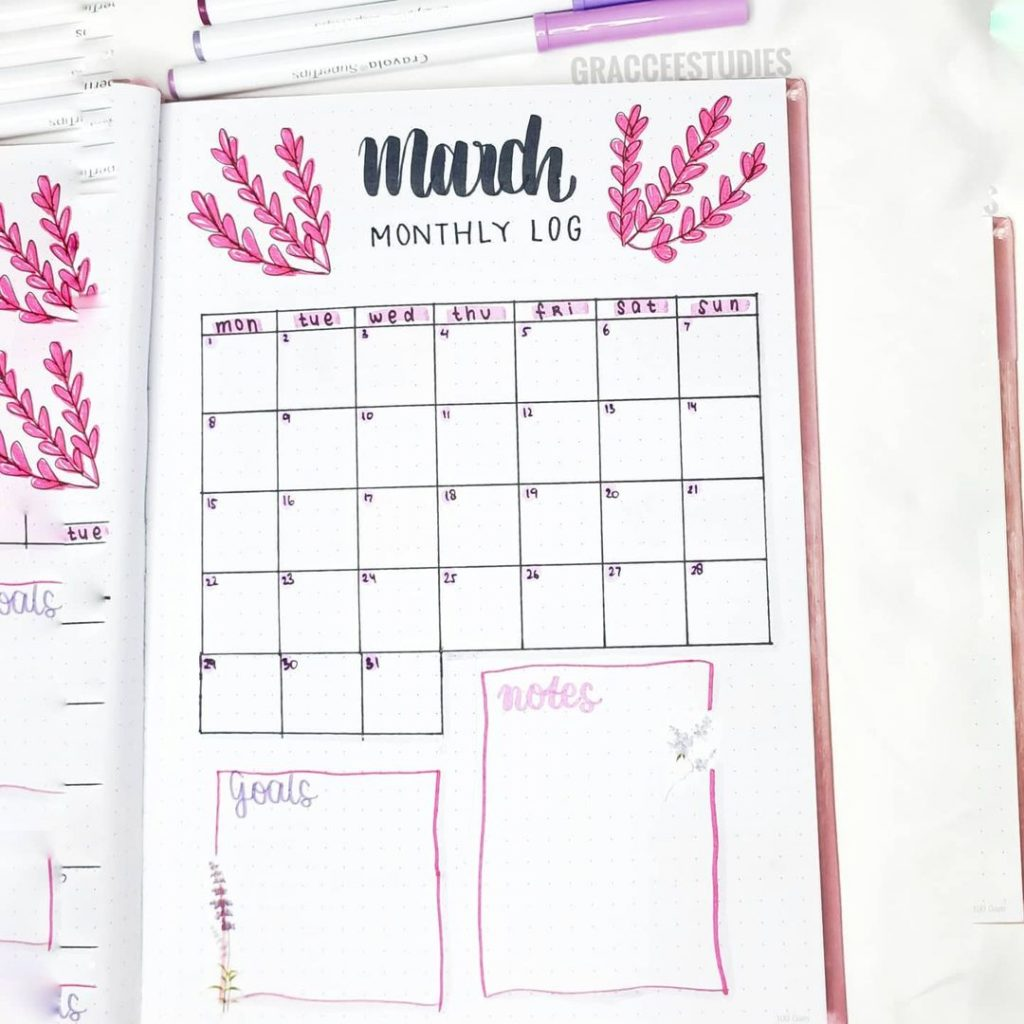 March Monthly Spread 1
