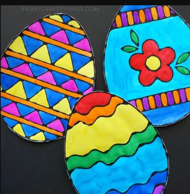 Black-glue-easter-egg