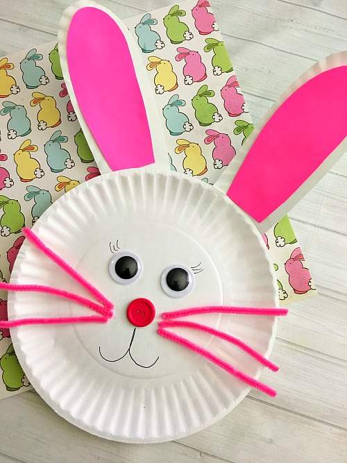 cute-bunny-Paper-plate-craft-for-kids