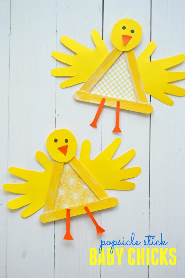 Popsicle-stick-baby-chick