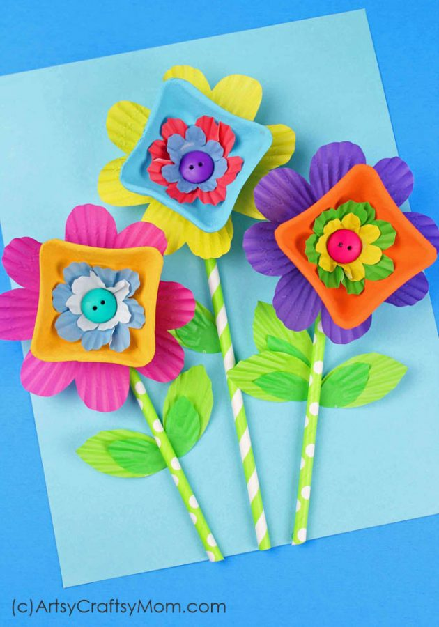 Recycled-Egg-Carton-Flowers