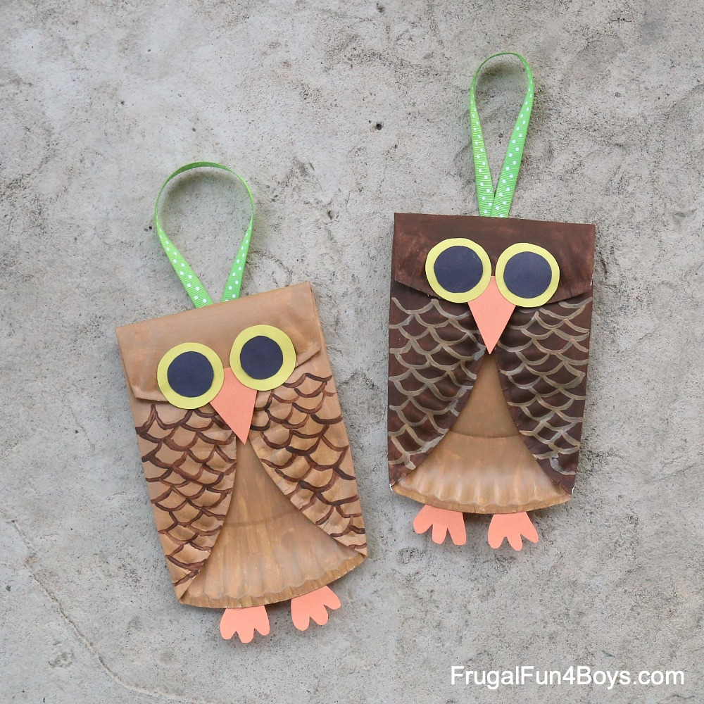 Paper-Plate-Owls