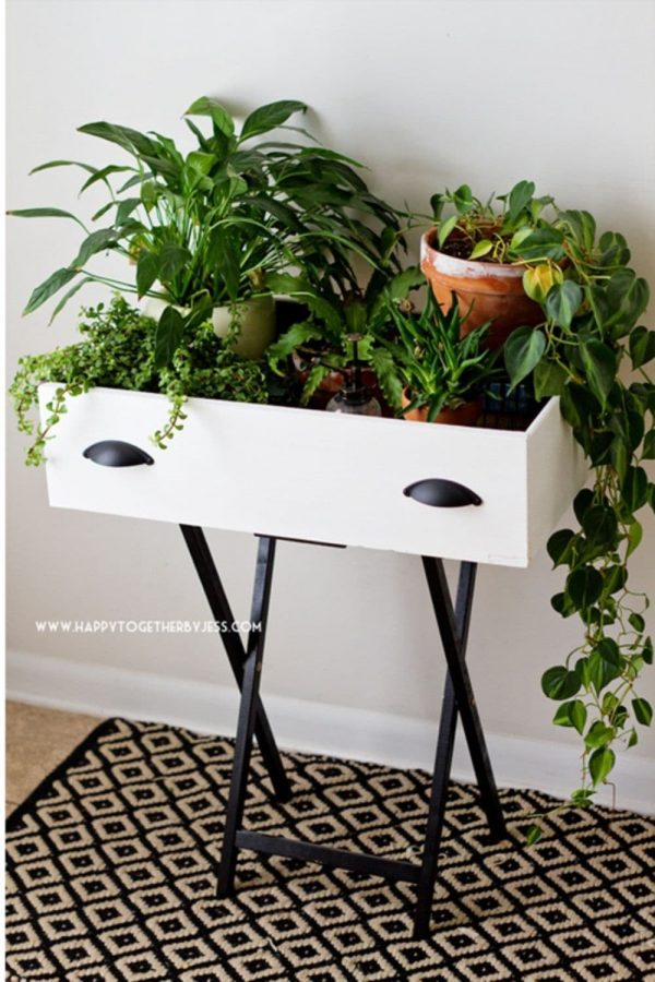 upcycled modern plant stand